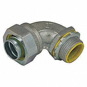 Malleable Iron/Steel Insulated Connector, Connector Type: 90°, Conduit Size:  1/2""