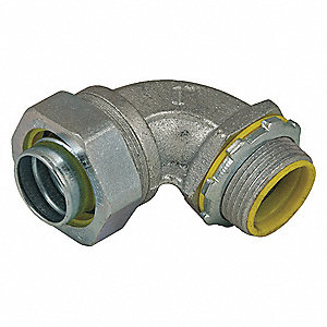 Malleable Iron/Steel Insulated Connector, Connector Type: 90°, Conduit Size:  3/4""