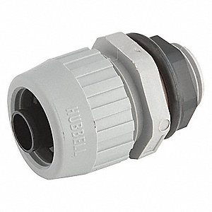Nylon Noninsulated Connector, Connector Type: Straight, Conduit Size:  3/8""