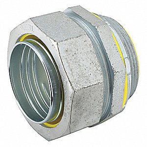 Malleable Iron/Steel Insulated Connector, Connector Type: Straight, Conduit Size:  2""