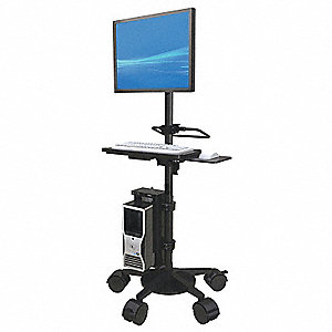 "Telescopic Medical Cart,Mahogany,46"" H"