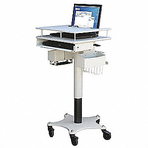 "Laptop Cart,27-1/2 to 43-1/2"" H x 21"" W"