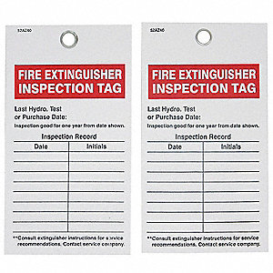 "Inspection Tag,Vinyl,5-3/4"",PK25"
