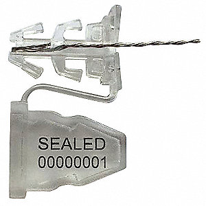 "Padlock Seal,18"" L,Clear,18"" Wire L,PK50"