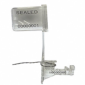 "Padlock Seals, Stainless Steel, Clear, 18"", 50 PK"