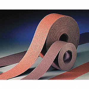 "Coarse Aluminum Oxide Sanding Cloth, 150 ft. L X 1-1/2"" W, 80 Grit"