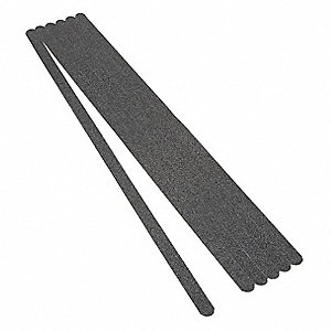 "Solid Black Anti-Slip Tread, 3/4"" x 2.0 ft., 60 Grit Aluminum Oxide, Rubber Adhesive, 50 PK"