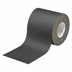 "Solid Black Anti-Slip Tape, 4"" x 60.0 ft., 60 Grit Aluminum Oxide, Rubber Adhesive, 1 EA"