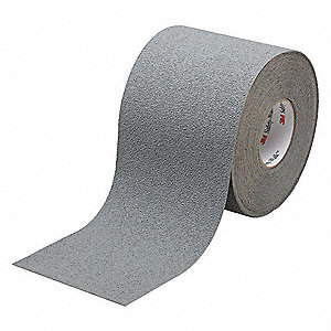 "Solid Gray Anti-Slip Tape, 6"" x 60.0 ft. Grit Mineral, Rubber Adhesive, 1 EA"