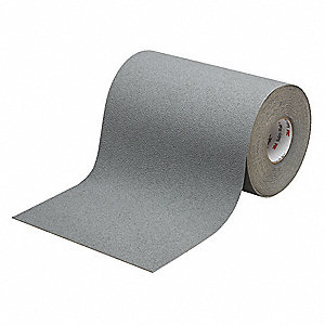 Solid Gray Anti-Slip Tape, 3.0 ft. x 60.0 ft. Grit Mineral, Rubber Adhesive, 1 EA