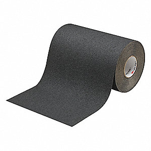 "Solid Black Anti-Slip Tape, 12"" x 60.0 ft. Grit Mineral, Rubber Adhesive, 1 EA"