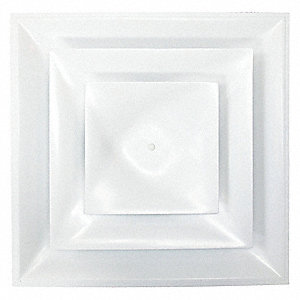 "Ceiling Diffuser,White,12"" Duct Size"