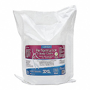 "Unscented Fragrance Body Wipes, 6"" x 8"", 700 Wipes per Container, 1 EA"