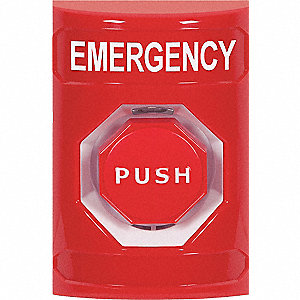 Emergency Push Button,Rd,Pneumatic Relay