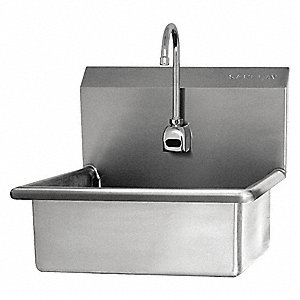 Stainless Steel Mount Sink, With Faucet, Wall Mounting Type, Stainless Steel