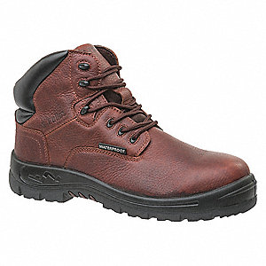 "6""H Unisex Hiking Boots, Composite Toe Type, Brown, Size 6W"