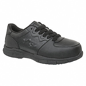 "4""H Women's Athletic Style Work Shoes, Composite Toe Type, Black, Size 11M"
