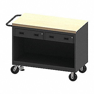 "Mobile Workstation, Steel, 48"" L, 24"" W"