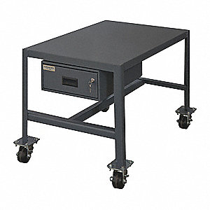"Fixed Height Work Table, 18"" Depth, 24"" Height, 24"" Width,4000 lb. Load Capacity"