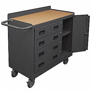 GRAINGER APPROVED Mobile Cabinet Workbench, Hardboard, 18 ...
