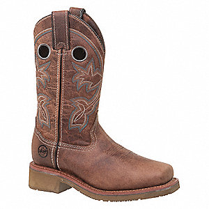 "11""H Women's Roper Boots, Composite Toe Type, Tan, Size 10M"