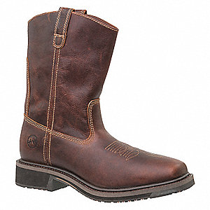 "11""H Men's Roper Boots, Composite Toe Type, Tan, Size 8-1/2D"