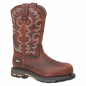 "9""H Women's Work Boots, Composite Toe Type, Nutty Brown, Size 6-1/2C"