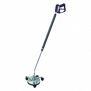 "Rotary Surface Cleaner with Handles, 8"" Cleaning Path, 4000 psi Max. Operating Pressure, 3 to 12 gpm"