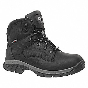 "6""H Men's Work Boots, Composite Toe Type, Black, Size 7EW"