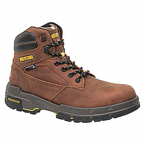 "6""H Men's Work Boots, Composite Toe Type, Brown, Size 8M"