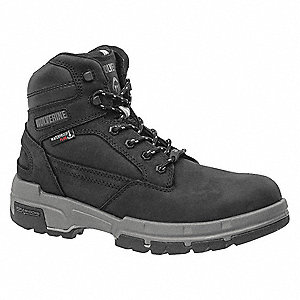 "6""H Men's Work Boots, Composite Toe Type, Black, Size 14M"