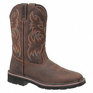 Boots,7-1/2,M,Brown/Rust,Steel,PR