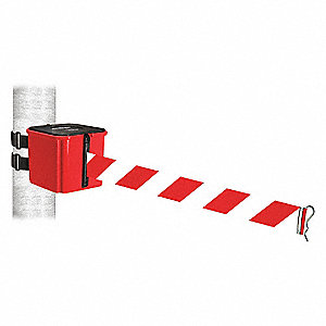 Belt Barrier,Red,Red/White Striped Belt