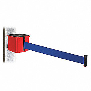 Retractable Belt Barrier, Blue, None