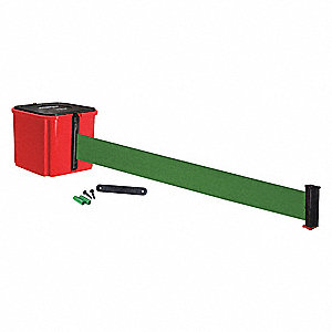 Belt Barrier,30 ft. Belt L,Green Belt