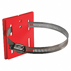 "5"" Polycarbonate Wall Mount Plate, Red"