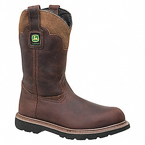 "11""H Men's Work Boots, Steel Toe Type, Brown, Size 8M"