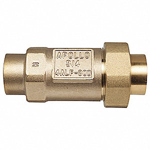 "3/4"" Dual Check Valve, Lead Free Bronze, FNPT Connection Type"