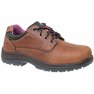"3""H Women's Work Boots, Composite Toe Type, Brown, Size 11W"