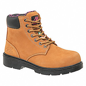 Work Boots,7,D,Tan,Steel,PR