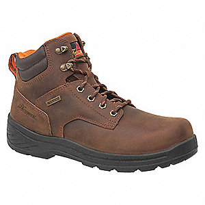 "6""H Men's Work Boots, Composite Toe Type, Brown, Size 8-1/2W"