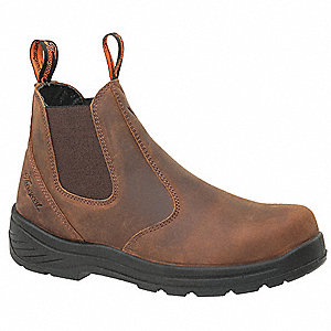 "6"" Height Men's Work Boots, Composite Toe Type, Brown, Size 8-1/2M"