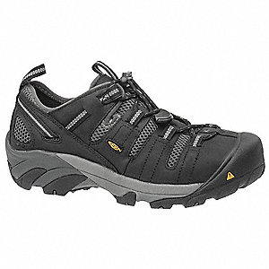 Work Boots,7-1/2,EE,Black,Steel,PR