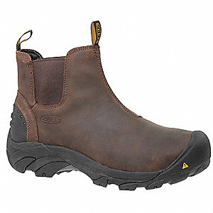 "5""H Men's Work Boots, Steel Toe Type, Brown, Size 8-1/2D"