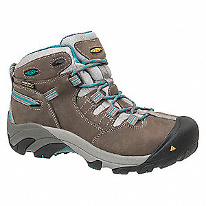 "5""H Women's Work Boots, Steel Toe Type, Gray, Size 9M"