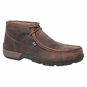 "4""H Men's Work Boots, Steel Toe Type, Brown, Size 7-1/2M"