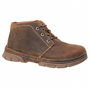 "4""H Men's Work Boots, Steel Toe Type, Brown, Size 12D"
