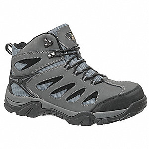 Boots,8-1/2,W,Gray/Black,Steel,PR