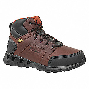 LowH Men's Work Boots, Composite Toe Type, Brown, Size 11-1/2W