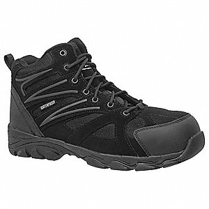 LowH Men's Work Boots, Composite Toe Type, Black, Size 10W